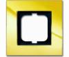 Cover frame, Carat, 1-gang, Gold? (NEW)