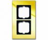 Cover frame, Carat, 2-gang, Gold? (NEW)