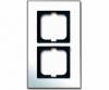 Cover frame, Carat, 2-gang, Chrome?(NEW)