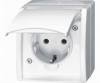SCHUKO®  socket outlet  with hinged lid